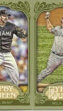 2012 Topps Gypsy Queen Heath Bell Mini Green
