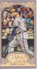 2012 Topps Gypsy Queen Freddie Freeman Mini Sp Card