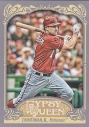 2012 Topps Gypsy Queen Ryan Zimmerman Base