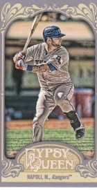 2012 Topps Gypsy Queen Mike Napoli Mini