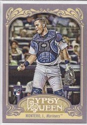 2012 Topps Gypsy Queen Jesus Montero RC Base Sp Variation