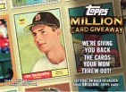 2010 Topps Series 2 Million Card Redemption Card