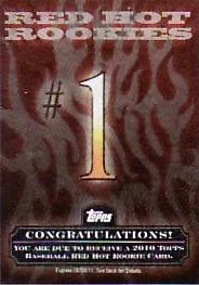 2010 Topps Series 2 Red Hot Rookies Redemption