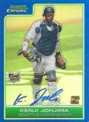 2006 Bowman Chrome Kenji Johjima Blue Auto RC