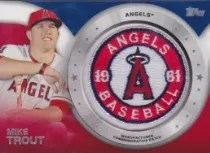 2014 Topps Series 2 Mike Trout Patch