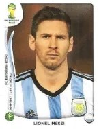 2014 Fifa World Cup Lionel Messi Sticker