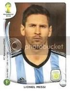 2014 Fifa World Cup Lionel Messi Sticker