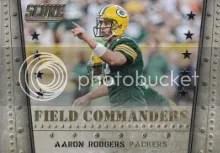 2014 Score Aaron Rodgers Field Commanders