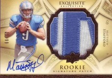 2009 Exquisite Matthew Stafford RC Patch Auto