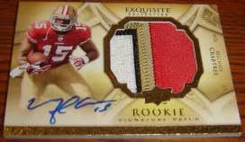 2009 UD Exquisite Football Michael Crabtree