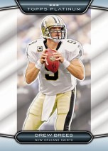 2010 Topps Platinum Drew Brees Base Card