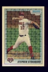2010 Bowman Chrome Stephen Strasburg Superfractor Front