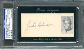 2010 Historic Cuts Autograph Jackie Robinson PSA/DNA