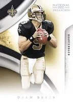 Drew Brees 2009 Playoff National Treasures Football Base Card