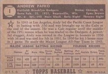1952 Topps Andrew Pafko