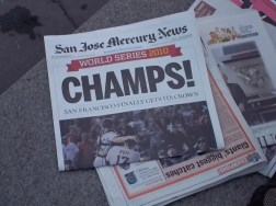 2010 SF Giants San Jose Mercury News Champs Newspaper