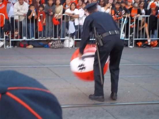 SF Giants Parade Police Man