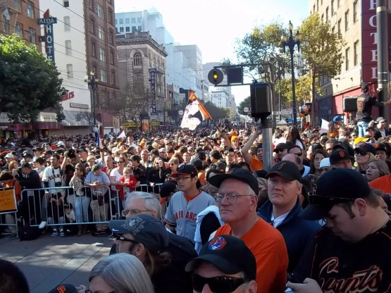 Crowd at San Francisco Giants World Series Parade