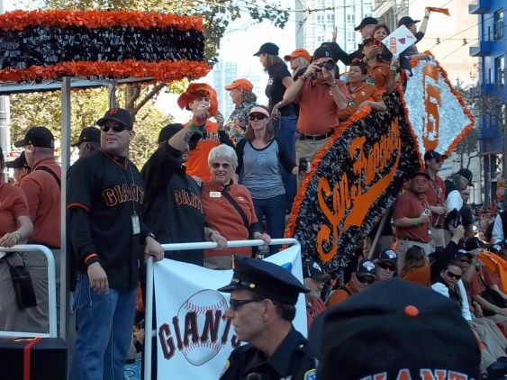 SF Giants World Series Parade Float