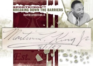 2010 Sportkings Gum Martin Luther King Jr Cut Autograph