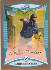 2008 Bowman Chrome Carlos Santana RC