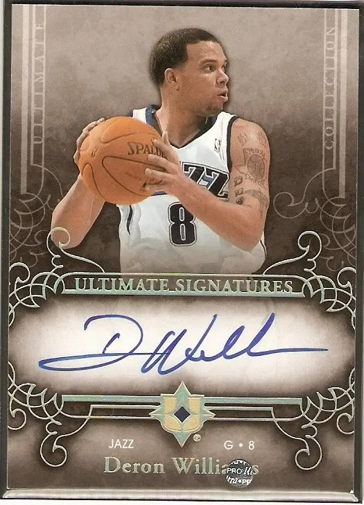 Deron Williams Utah Jazz Autograph