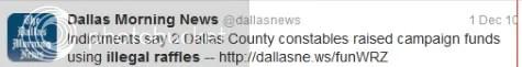 Dallas Morning News Tweet