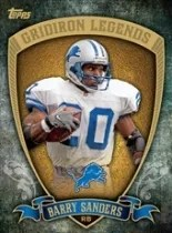 2013 Topps Gridiron Legends Barry Sanders