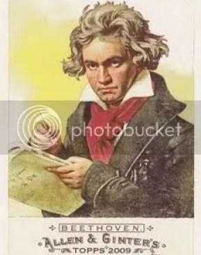 Ludwig van Beethoven Topps Allen & Ginter