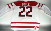 2010 Dan Boyle Canada Game Worn Hockey Jersey