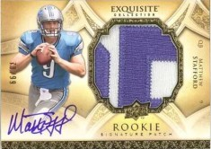 2009 Upper Deck Exquisite Matthew Stafford RC