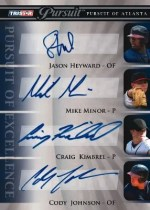 2010 TriStar In Pursuit Series 2 Heyward/Minor/Kimbrel/Johnson Auto