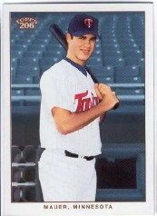 MVP Joe Mauer 2009 Topps T206 Base Card
