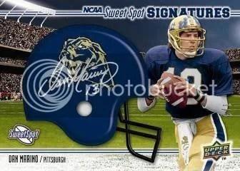 2010 UD NCAA Sweet Spot Football Dan Marino Autograph Helmet