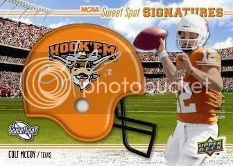 2010 UD NCAA Sweet Spot Football Colt McCoy Autograph Helmet