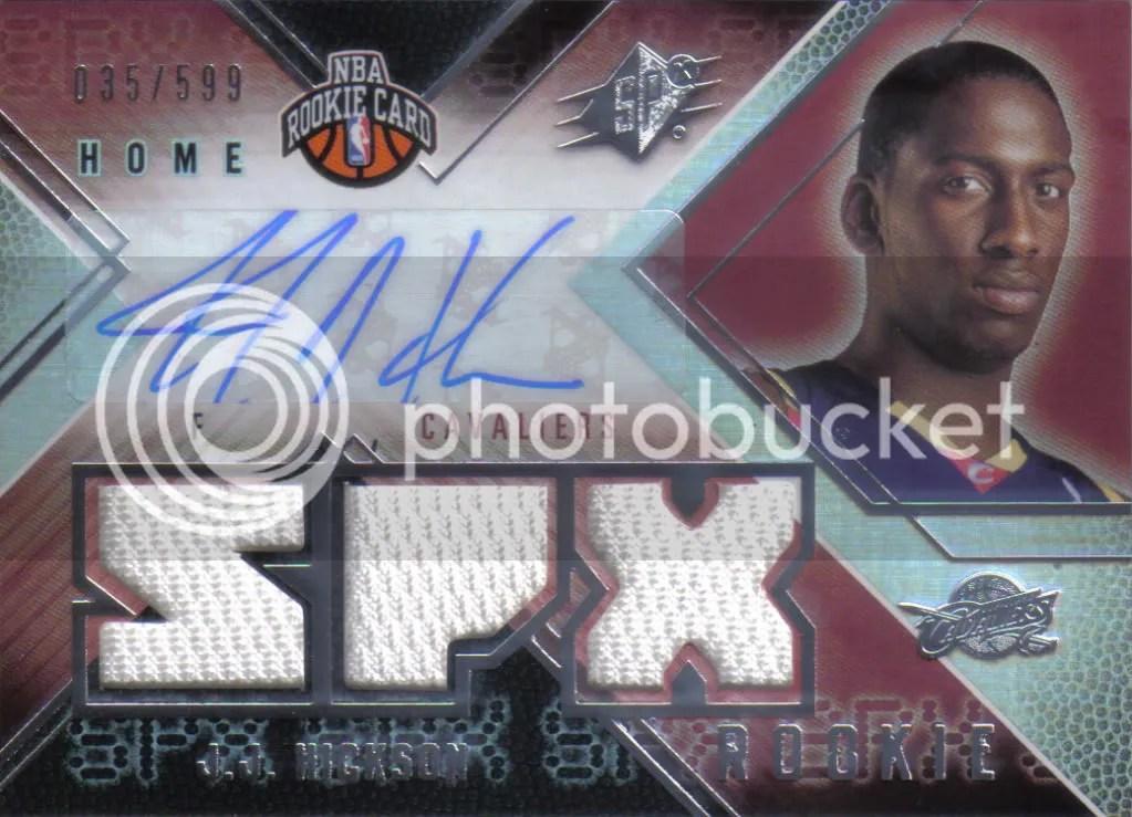 2008/09 Upper Deck SPX JJ Hickson Autograph Material Rookie Card