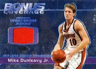 03/04 Topps Chrome Bonus Coverage Relic Mike Dunleavy Jr