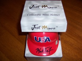 2009 Just Minors Mark Teixeira Autograph Mini Helmet #55/120