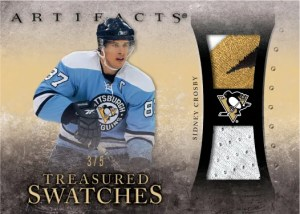10/11 UD Artifacts Treasures Swatches Sidney Crosby Gold Parallel Jersey Card