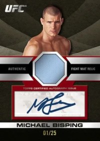 2011 Topps UFC Title Shot Michael Bisping & Rashad Evans Dual Mat Autograph Card Front