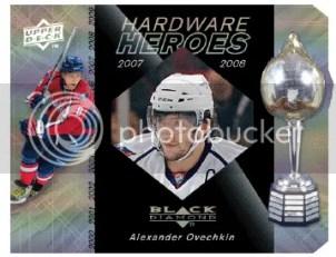 2010/11 UD Black Diamond Hardware Heroes Alexander Ovechkin Die Cut
