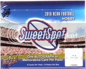 2010 Upper Deck Sweet Spot Football Hobby Box