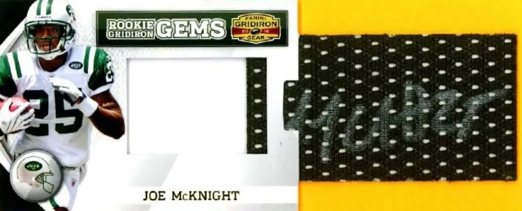 2010 Panini Gridiron Gear RC Hidden Gems Joe McKnight Pull Out Autograph Card