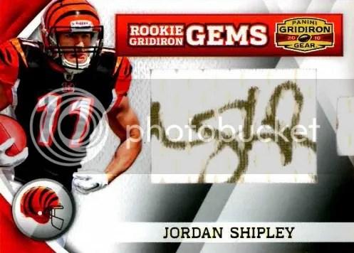 2010 Panini Gridiron Gear RC Hidden Gems Jordan Shipley Autograph Card