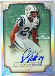 2010 Topps Five Star Darrelle Revis Signatures Autograph Card
