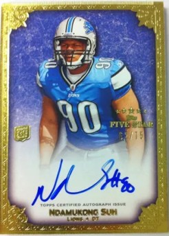 2010 Topps Five Star Ndamukong Suh Autograph Card #/75
