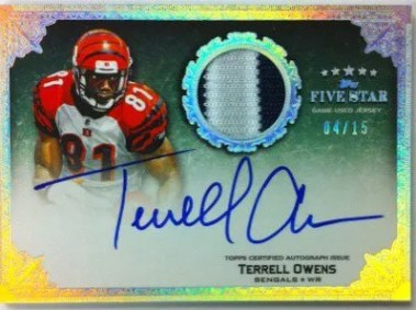 2010 Topps Five Star Terrell Owens Autograph Patch Card