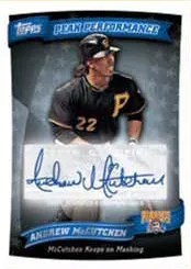 2010 Topps Update Series Andrew McCutchen Peak Performance Autograph