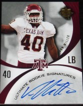 2011 Ultimate Collection Von Miller Autograph