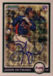 2010 Bowman Chrome Jason Heyward Superfractor Auto /1
